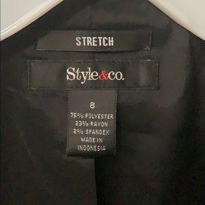 Style & Co Jackets & Coats - Style & Co Dark Gray Stretch Blazer